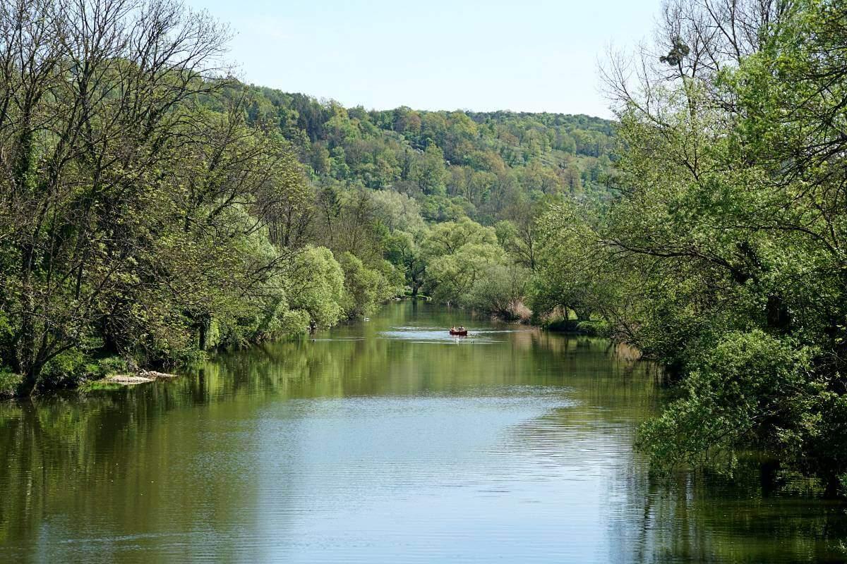 Die Jagst in Doerzbach
