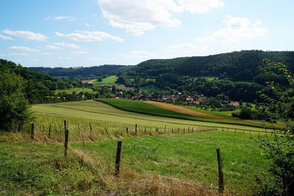 Blick auf das Jagsttal rund um Langenburg