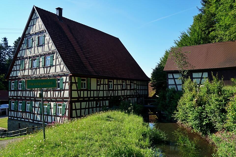 Die Heinlesmuehle bei Alfdorf im Schwaebischen Wald