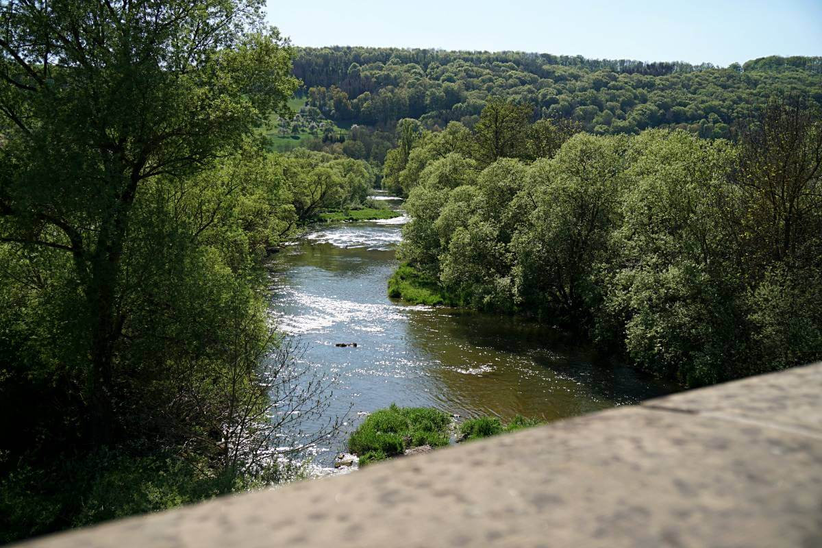 Blick von der Jagstbruecke Hohebach