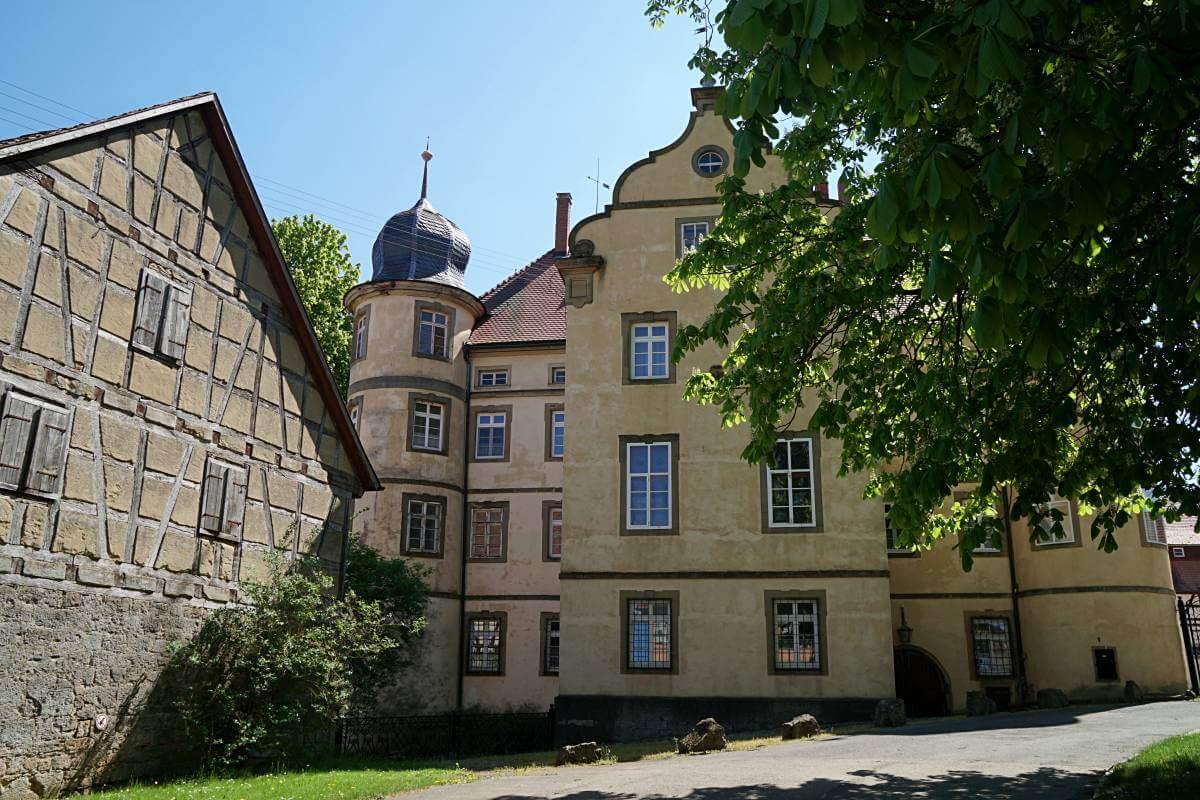 Schloss der Familie von Palm in Messbach auf dem Pfad der Stille