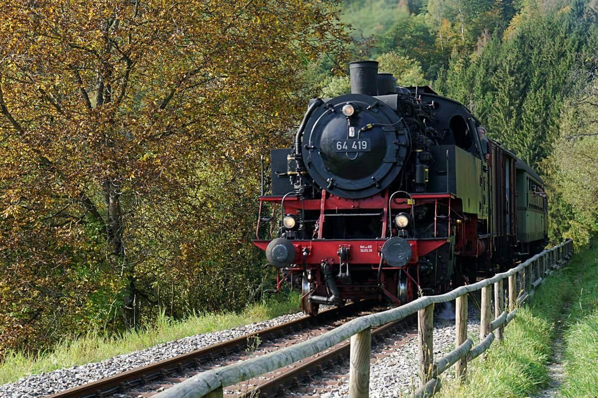 Die Schwaebische Waldbahn im Schwaebischen Wald