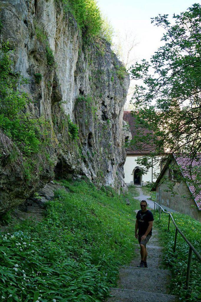 Weg zur Kapelle St Wendel zum Stein