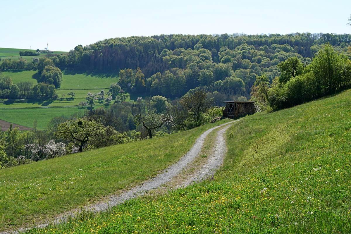 Wanderweg Pfad der Stille in Hohenlohe