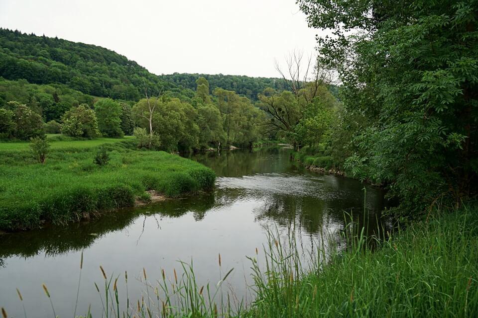 Das Jagsttal in Hohenlohe auf unserer Langenburg Wanderung