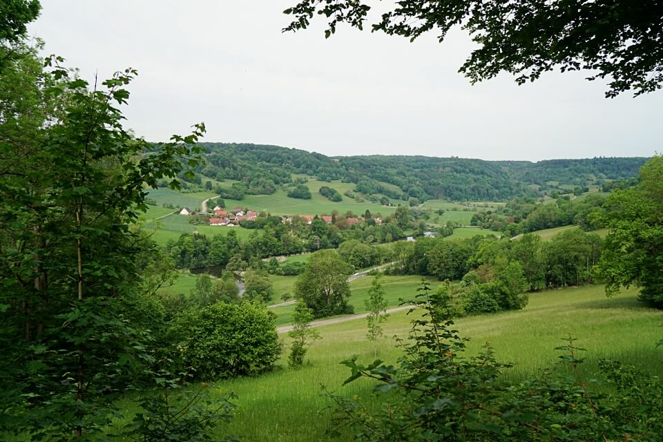Ausblick Panoramaweg Langenburg