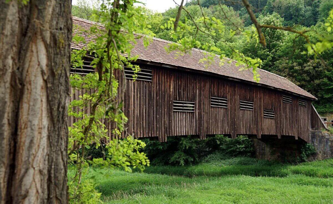 Archenbruecke in Unterregenbach auf unserer Wanderung um Langenburg