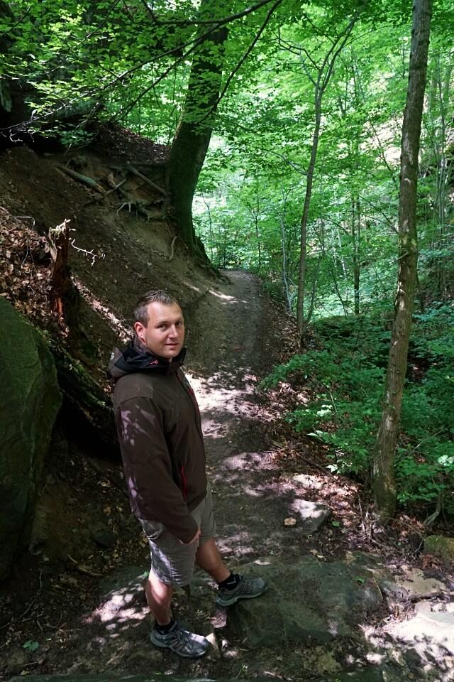 Marco beim Abstieg in die Bodenbachschlucht