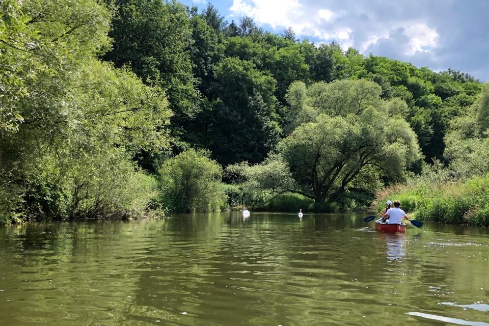 Die Jagst in Hohenlohe