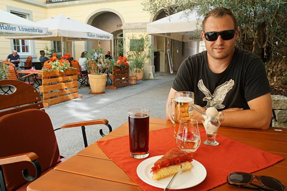 Pause im Schlosscafe in Kirchberg an der Jagst