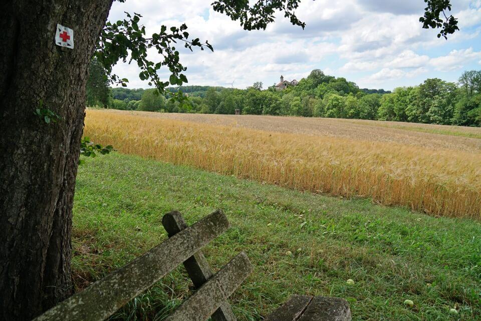 Felder im Jagsttal