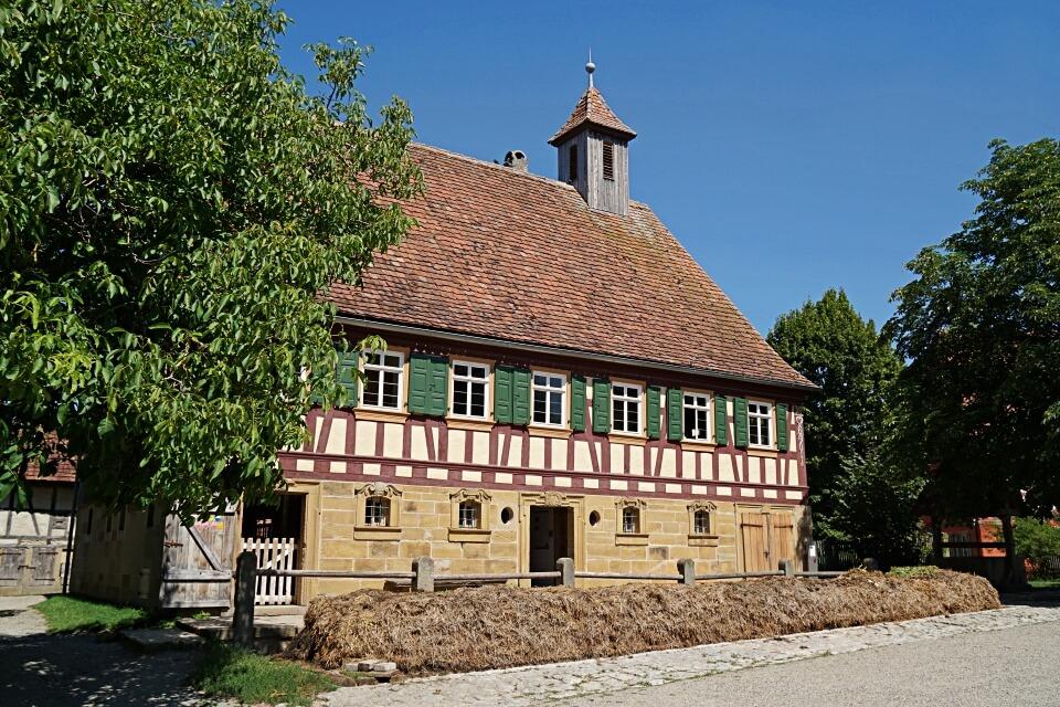 Bauernhaus im Freilandmuseum Wackershofen in Hohenlohe