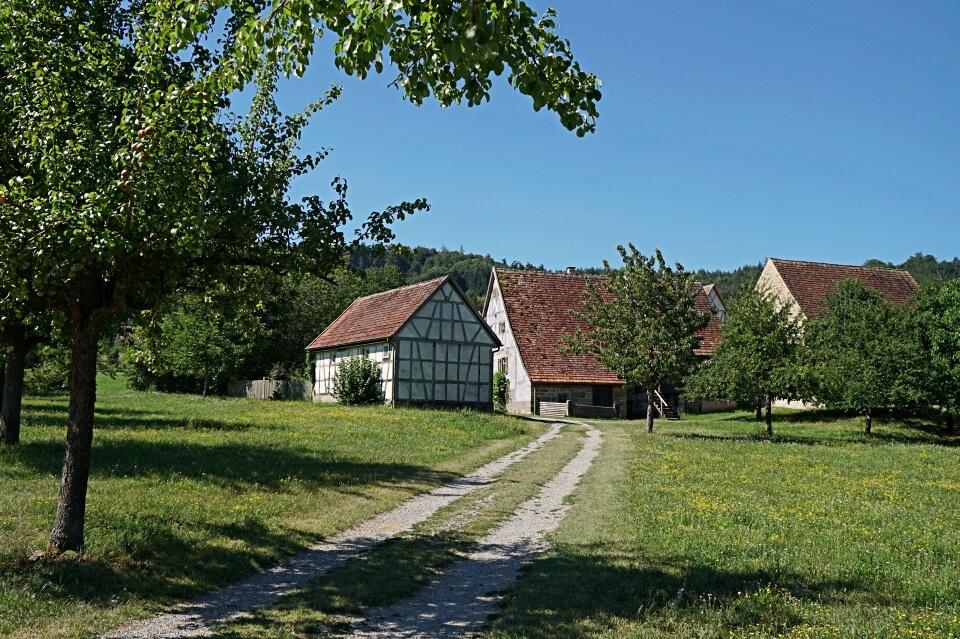 Weinbauerndorf im Freilandmuseum Wackershofen in Hohenlohe