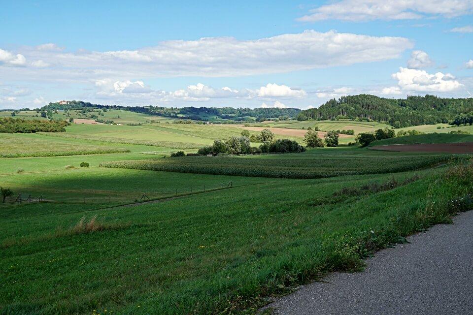 Ausblick ins Buehlertal auf unserer Radtour