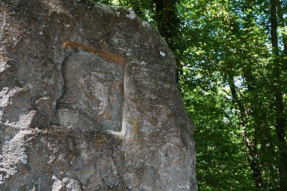 Bismarckdenkmal auf dem Panorama Wanderweg um Rothenburg ob der Tauber