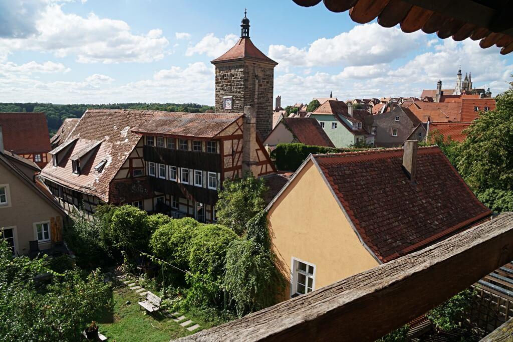Blick vom Turmweg auf Rothenburg ob der Tauber