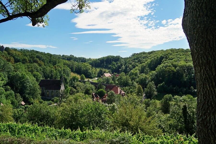Blick ins Taubertal von Rothenburg ob der Tauber