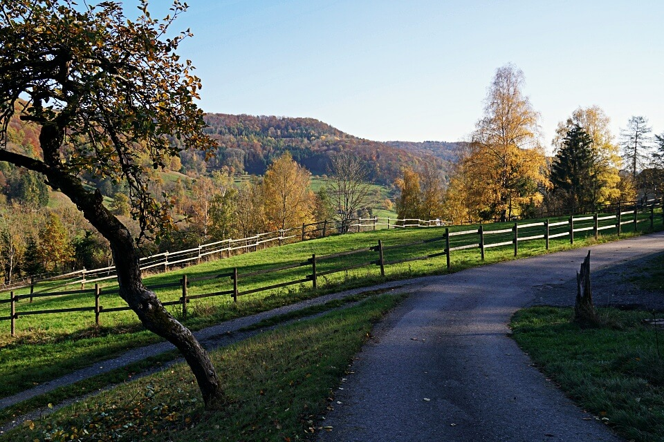 Weg nach Brettach in Hohenlohe