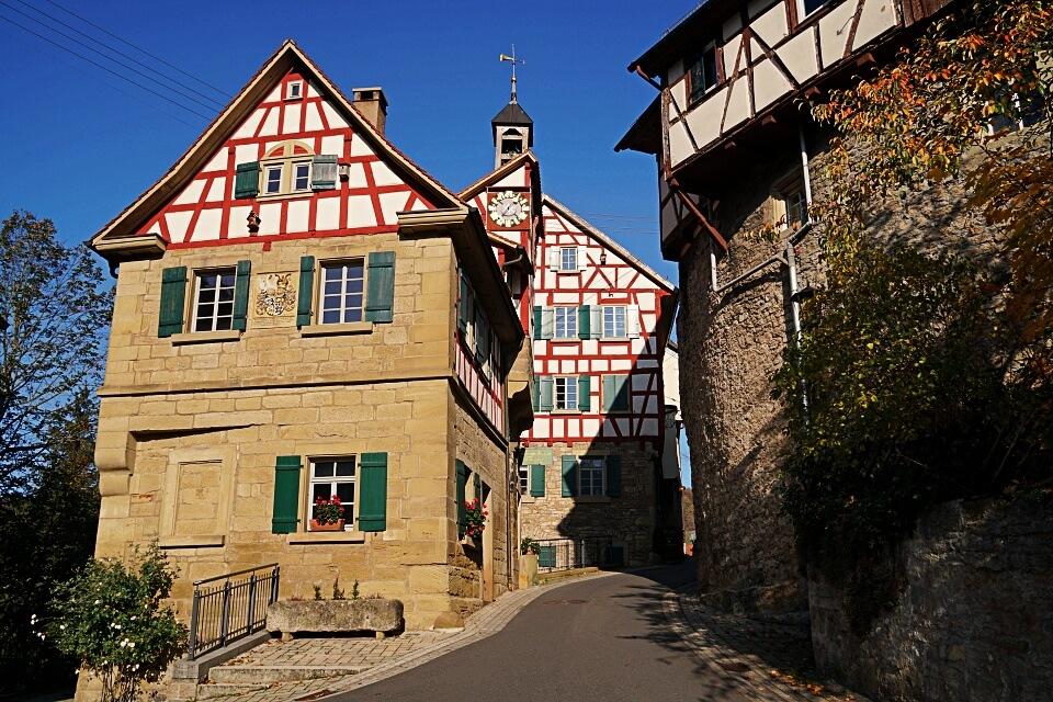 Die Altstadt von Forchtenberg in Hohenlohe