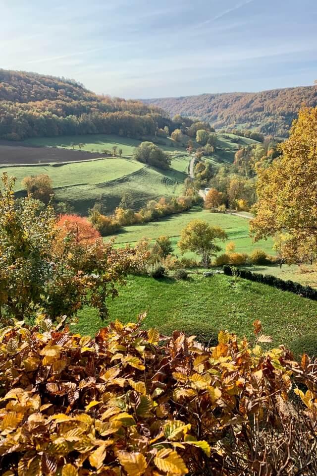 Toller Ausblick ins Kochertal von Burg Tierberg