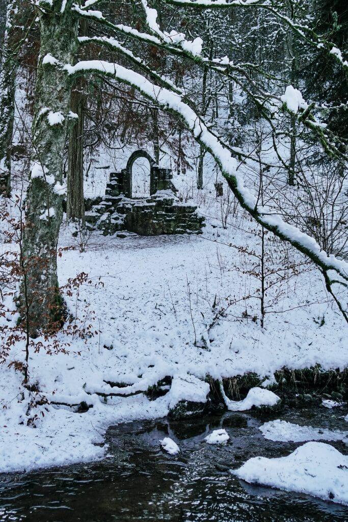 Hankertsmuehle im Rottal im Schwaebischen Wald