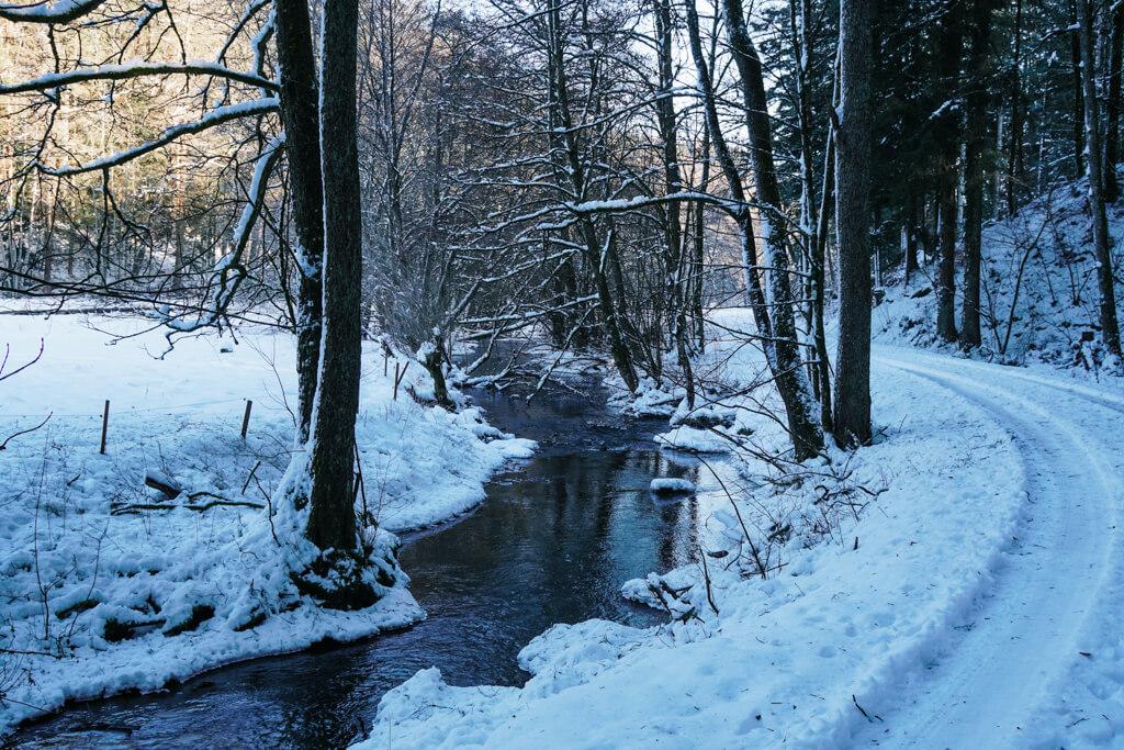 Wanderung durch das Rottal bei Grosserlach im Schwaebischen Wald