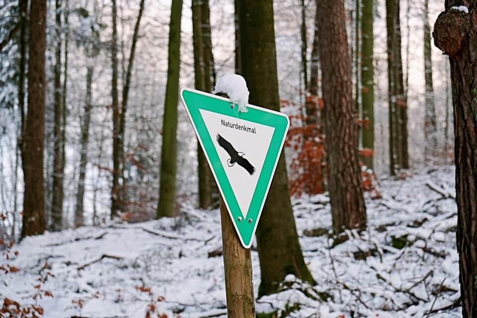 Naturdenkmal Pfaffenklinge mit Silberstollen in Wustenrot