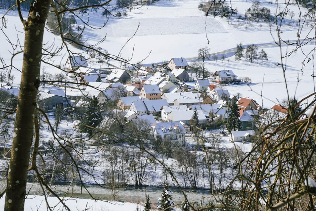 Oberregenbach im Jagsttal in Hohenlohe