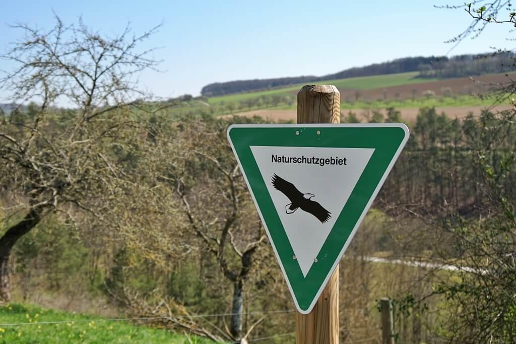 Naturschutzgebiet Goldberg im Messbachtal in Hohenlohe