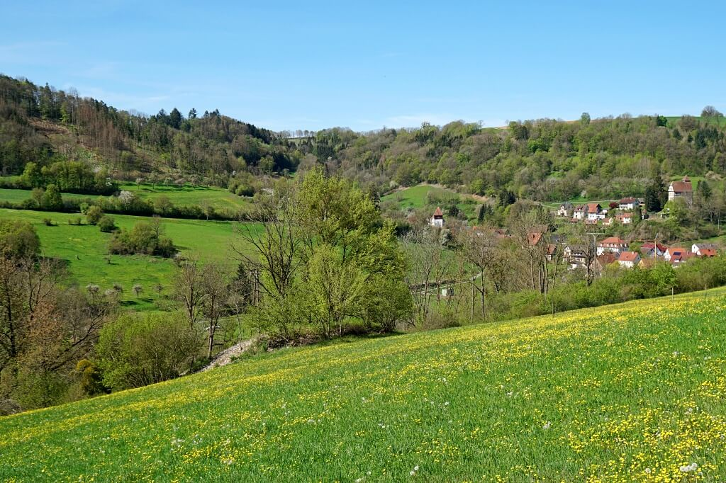 Blick ins Jagsttal nach Buchenbach
