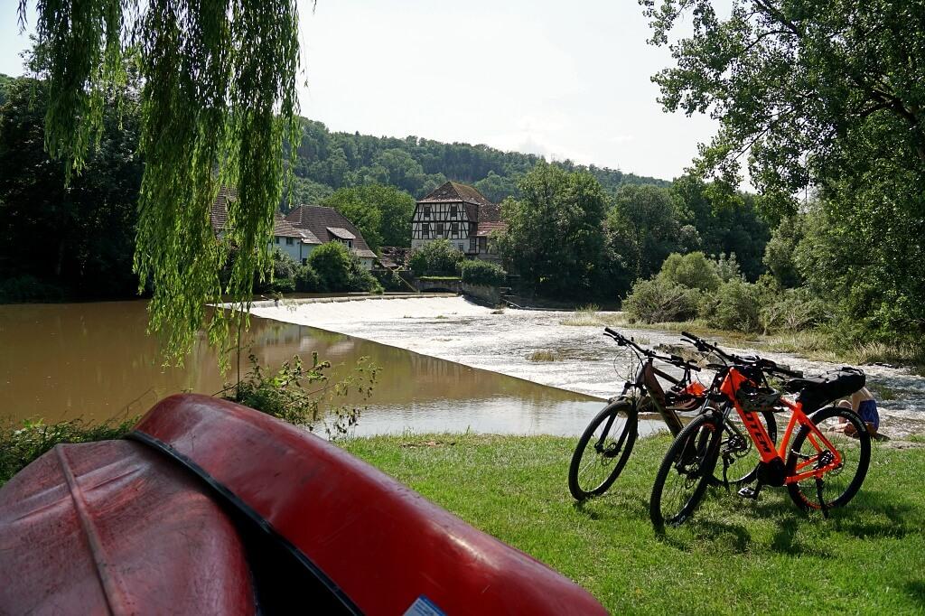 Forchtenberg am Kocher auf der Radtour Doppeltes Lottchen idurch Hohenlohe