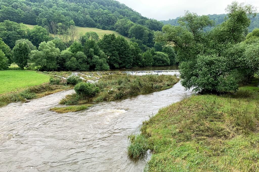 Die Jagst in Oberregenbach