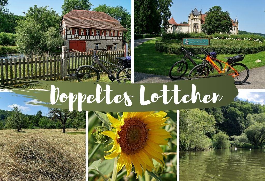 Radtour Doppeltes Lottchen auf dem Kocher Jagst Radweg durch Hohenlohe